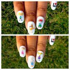 90s nick nail decals nail wraps nail art nickelodeon tv