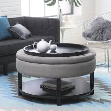 coffee table wonderful small round storage ottoman leather