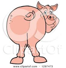 clipart cartoon pig smiling royalty
