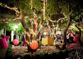 outdoor tree lights for summer a beautifully lit outdoor summer party summer event décor ideas