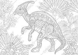 dinosaur hadrosaur coloring coloringpageexpress