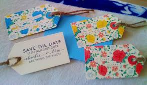 luggage tag save the date handmade floral luggage tag save the dates the wedding