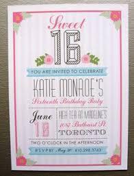 custom color printable sweet 16 invitation via etsy my