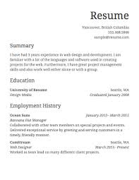 Online Resume Design by Free Resume Template Online 85 Free Resume Templates Free Resume