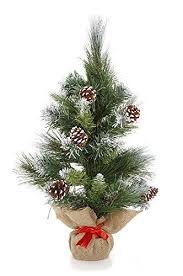 small artificial trees pine cones unlit for home decor