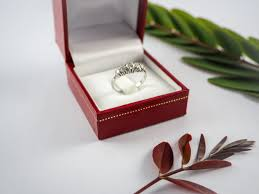 diamond rings box images Diamond rings next to white engagement ring box in red box and jpg