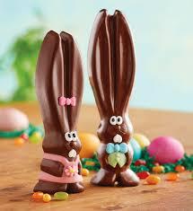 easter chocolate bunny mr and mrs ears milk chocolate easter bunnies harry david