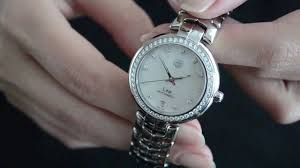 tag heuer ads eve u0027s watch tag heuer link lady watch review youtube