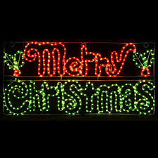 lighted merry sign lights card and decore
