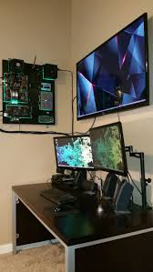 My Gaming Pc Setup Tour Youtube by Mad Catz Cyborg Ambx Gaming Lights Budget Pc Build Console Setup