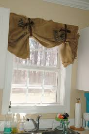 thrifty finds and redesigns burlap curtains