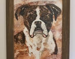 boxer dog umbrella boxer print of watercolor dog painting dog portrait pet