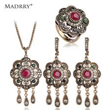vintage necklace earrings images Classic style turkish vintage jewelry sets necklace earrings jpg