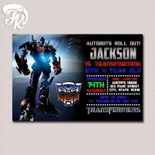 18 best transformers birthday invitations ideas images on
