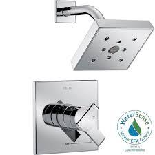 delta ara 1 handle h2okinetic shower faucet trim kit in chrome