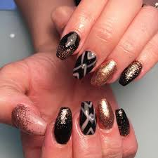 red gold nail designs images nail art designs
