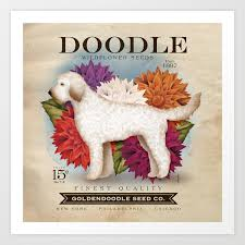 wildflower seed packets doodle goldendoodle wildflower seed packet artwork by stephen