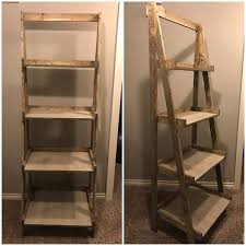 Making Wood Bookshelves by Best 25 Corner Ladder Shelf Ideas On Pinterest Ladder Shelves