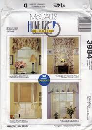 mccall u0027s home decor 3984 pattern window treatments cornice valance