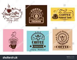 creative coffee label graphic designs cafe stock vector 255315850
