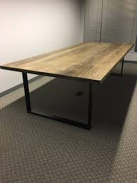 bar height conference table modernwoodstyle