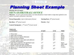 Event Planning Sheet Template Unit 3 Sport Facility Management And Event Planning