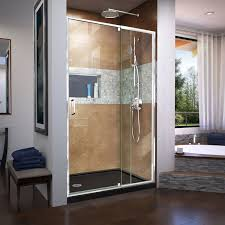48 Shower Doors Dreamline Flex 48 X 72 Pivot Shower Door Reviews Wayfair