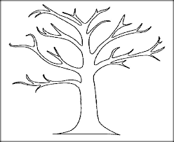 bare tree coloring sheet free download