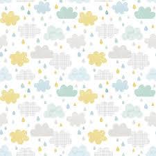 tapisserie chambre bebe papier peint enfant nuages et gouttes