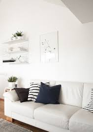 monochrome scandinavian living room string shelf one must dash