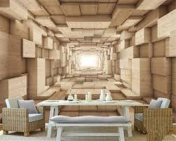 beibehang wallpaper for walls 3 d papel de parede 3d solid wood
