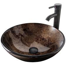 elecwish bathroom artistic vessel sink modern round tempered