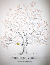 tree signing for wedding guest book idea except chris i would be two owls in the tree