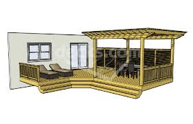 deck plans com free deck plan 1lx2324 deck with pergola and cascading stairs