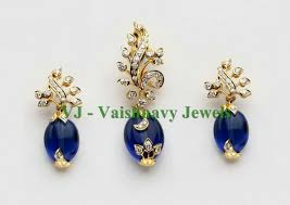 sapphire earrings necklace set images Gold sapphire diamond set earrings pendant jewellery pinterest jpg