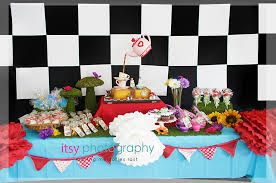 alice in wonderland mad hatter tea party dessert table baby