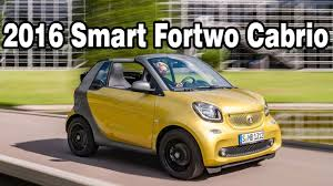 2016 smart fortwo cabrio 5 speed manual transmission review youtube