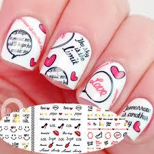 buy 3 sheet set love design print nail art water decals at