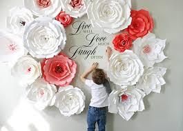 paper backdrops paper flower backdrop paper flowers wall