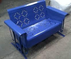 Vintage Patio Furniture Metal by Powdercoated Restored Vintage Metal Patio Gliders Vintage Metal