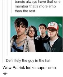 Emo Band Memes - bands always have that one member that s more emo than the rest