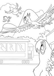 blu bird fly rio movie coloring pages batch coloring