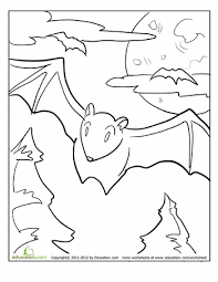 bat coloring bats worksheets zoos