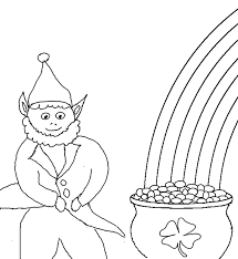 rainbow pot of gold coloring pages st patricks day pot of gold coloring home