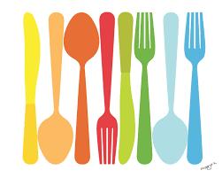 kitchen forks and knives for kitchen spoon fork knife illustration 8x10 by pragyak