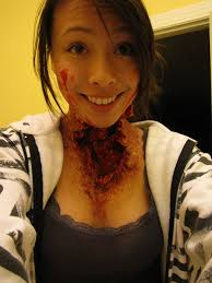 theatrical halloween makeup neck horror wound makeup by samoyed16 on deviantart halloween