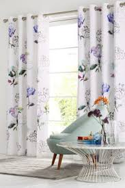 Curtains Floral Buy Cotton Sateen Blackout Lined Eyelet Floral Curtains From Next