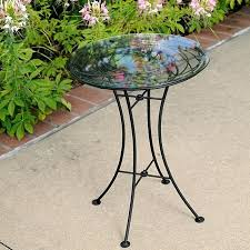 Patio Side Table Incredible Outdoor Side Table Mosaic Evergreen 21 5 Blue And Green