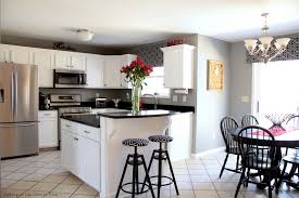 White Kitchen Black Countertop - decorating great and recommended kraftmaid cabinets for more