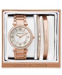 gold tone stainless steel bracelet images Michael kors women 39 s mini parker rose gold tone stainless steel jpg